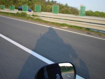 高速で自分の影を自分撮り